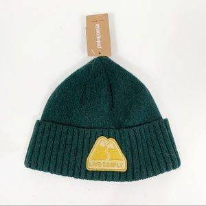 Patagonia Brodeo Cuffed Wool Knit Beanie Hat Green